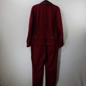 589bd57c677 Madewell Dresses - Madewell Dusty Burgundy Coverall Jumpsuit Size M